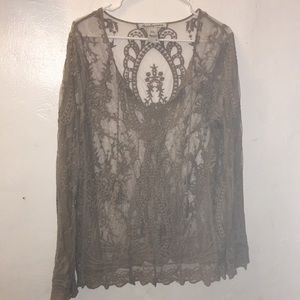 American Rag sheer top